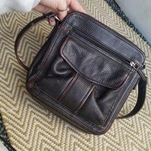 Handbags - Dark brown fossil crossbody organizer